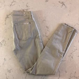 7 For All Mankind The Ankle Skinny in Gray Size 26